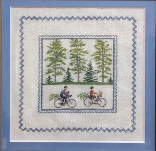 デンマーク刺繍との出会いとなった自転車の作品