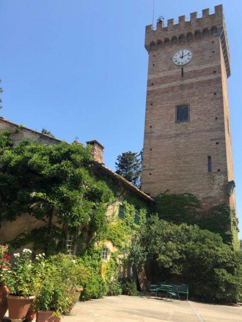 昔マキャヴェッリ一族が所有していた城 Castello Sonnino