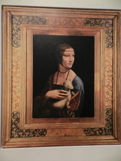 レオナルド・ダヴィンチの「白貂を抱く貴婦人」