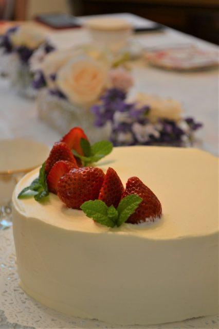 人気の苺のショートケーキ