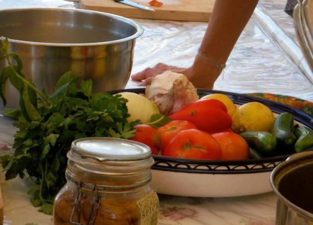 ヨルダンの新鮮な料理の材料(マーティン撮影)