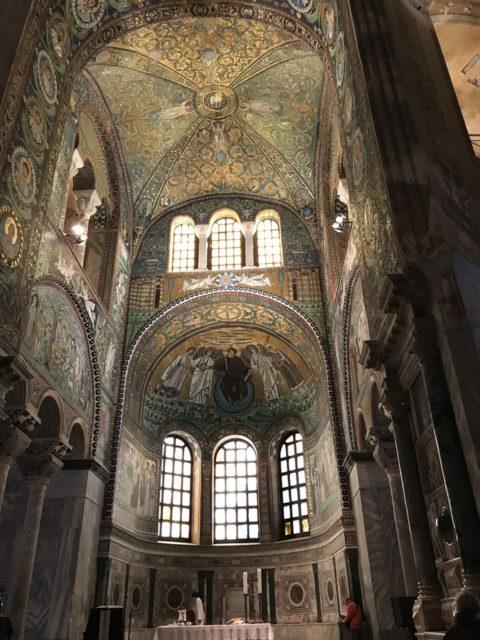 ラヴェンナのサンヴィターレ聖堂にある「キリスト再臨」