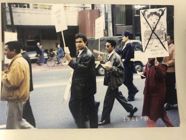 父は日本でスーチ氏解放・ミャンマー民主化運動に参加していた