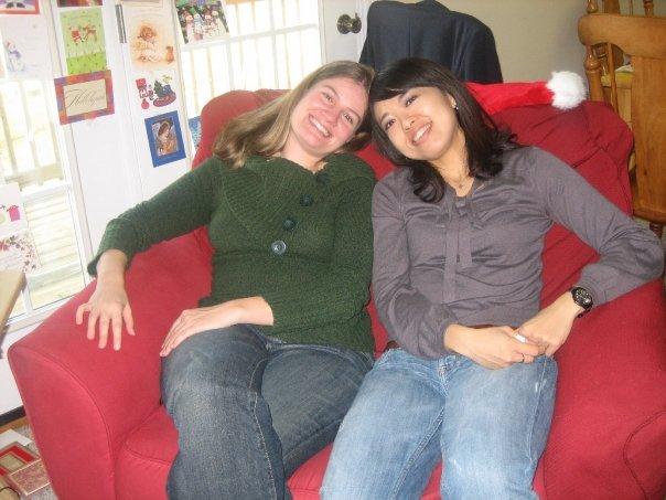 With host sister Aska, Christmas 2008