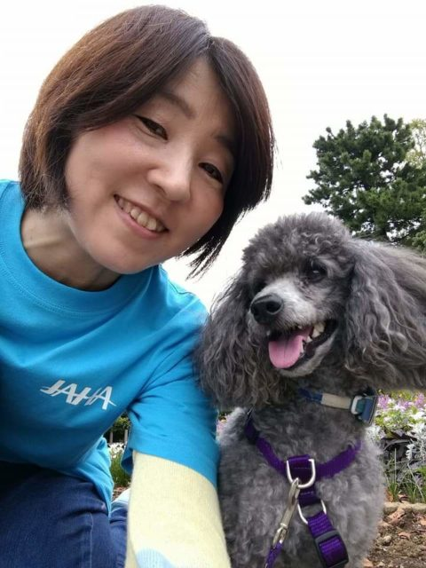毎年各都道府県で開催される「動物愛護フェスティバル」にハリーと参加。大きな音が怖いロンはお留守番です。