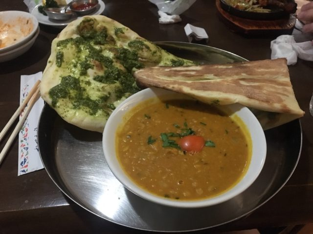 Food at my local Indian restaurant