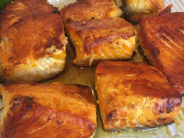 サフラン風味の焼き魚