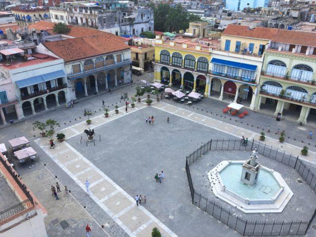 Public plaza in Havana