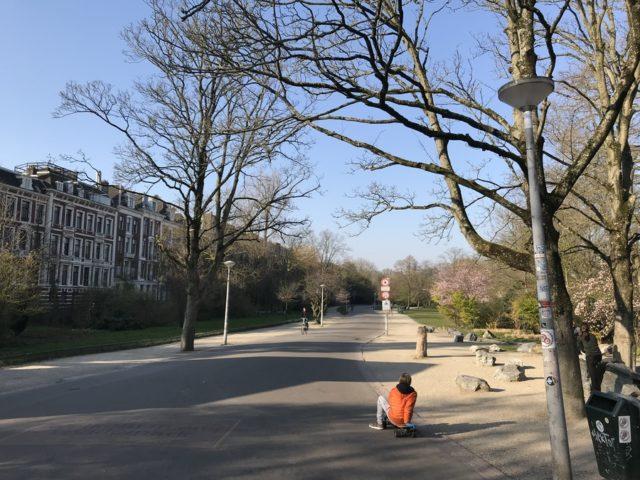 閑散としたフォンデル公園