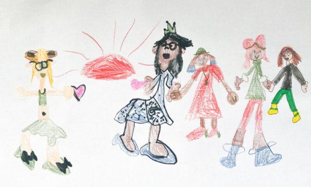 6歳の長女が暇あれば描くお絵かきの一枚