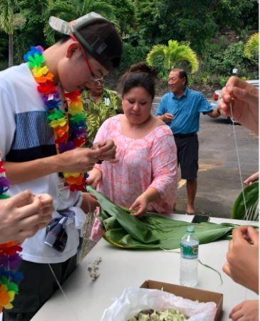 福岡の中学生がハワイ島の福岡県人会と交流しました